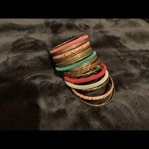 Assorted bangle bracelets